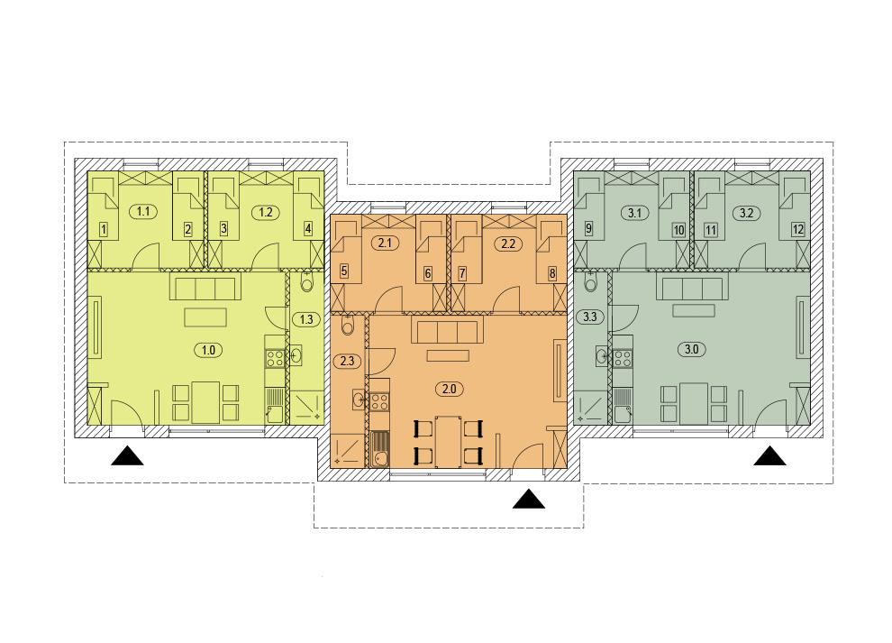 Raumaufteilung  - Bungalow-Apartment bei Potsdam